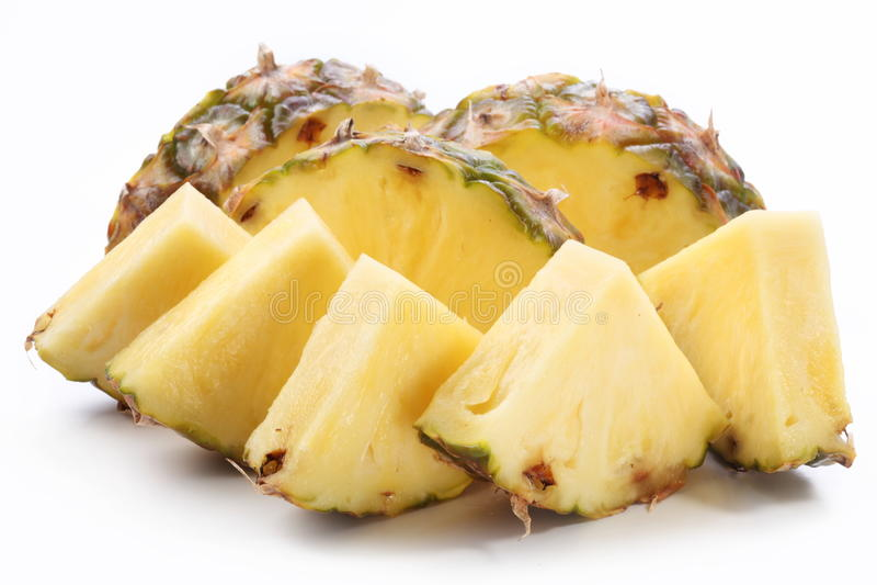 pieces ananas arkivfoton