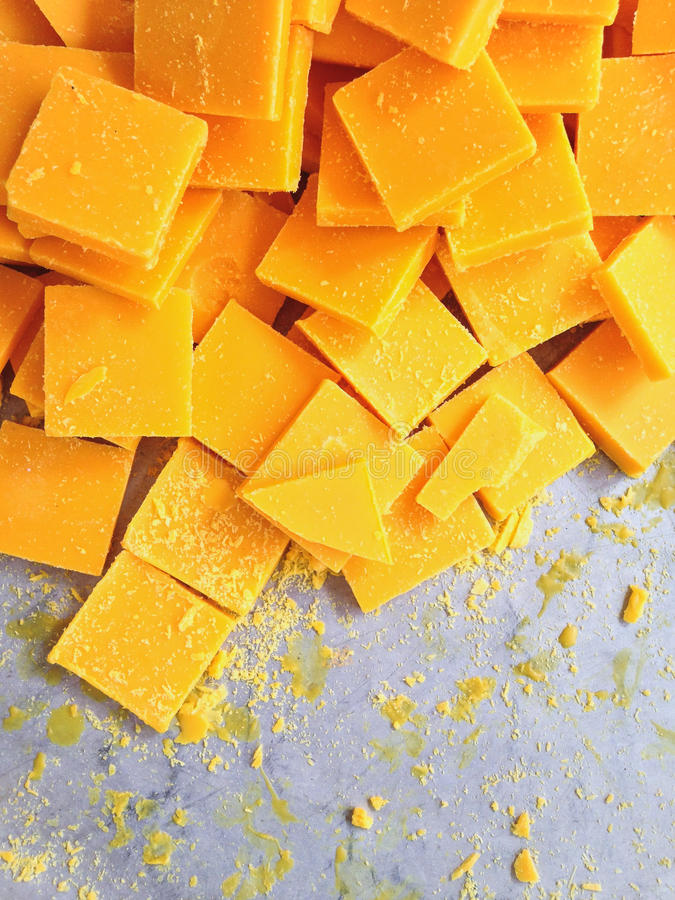 The pieces of beeswax to make candle royalty free stock image