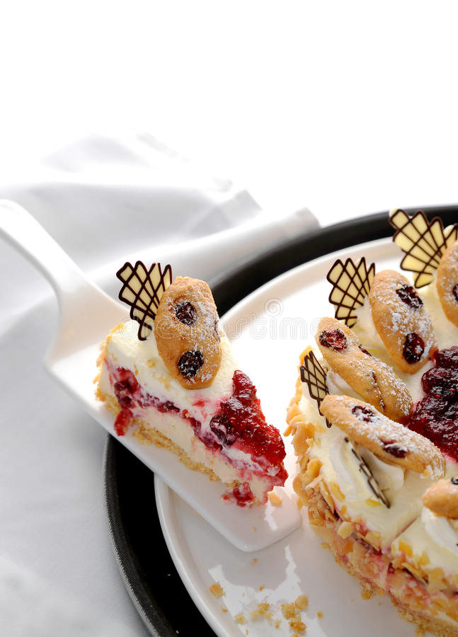 Pieces of cake royalty free stock images