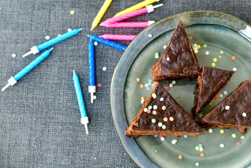 Chocolate Sacher Vienna cake royalty free stock images