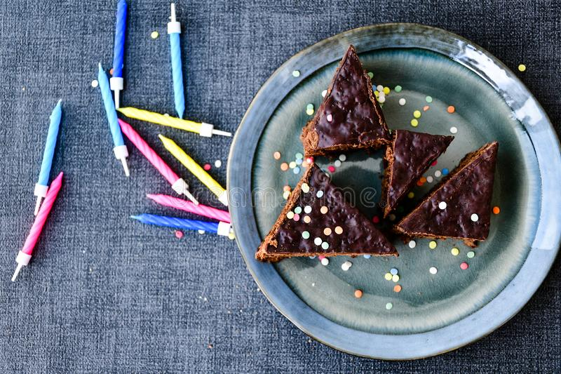 Chocolate Sacher Vienna cake royalty free stock photography