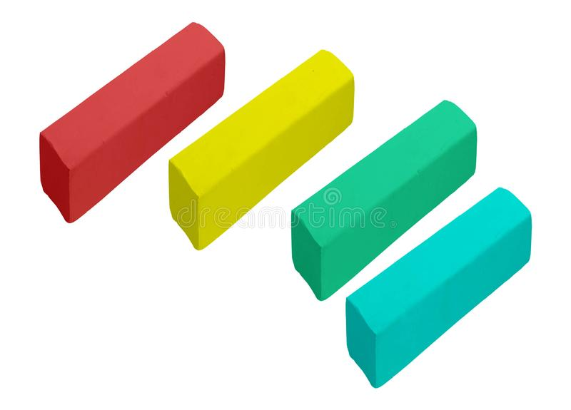Pieces of color chalk royalty free stock image