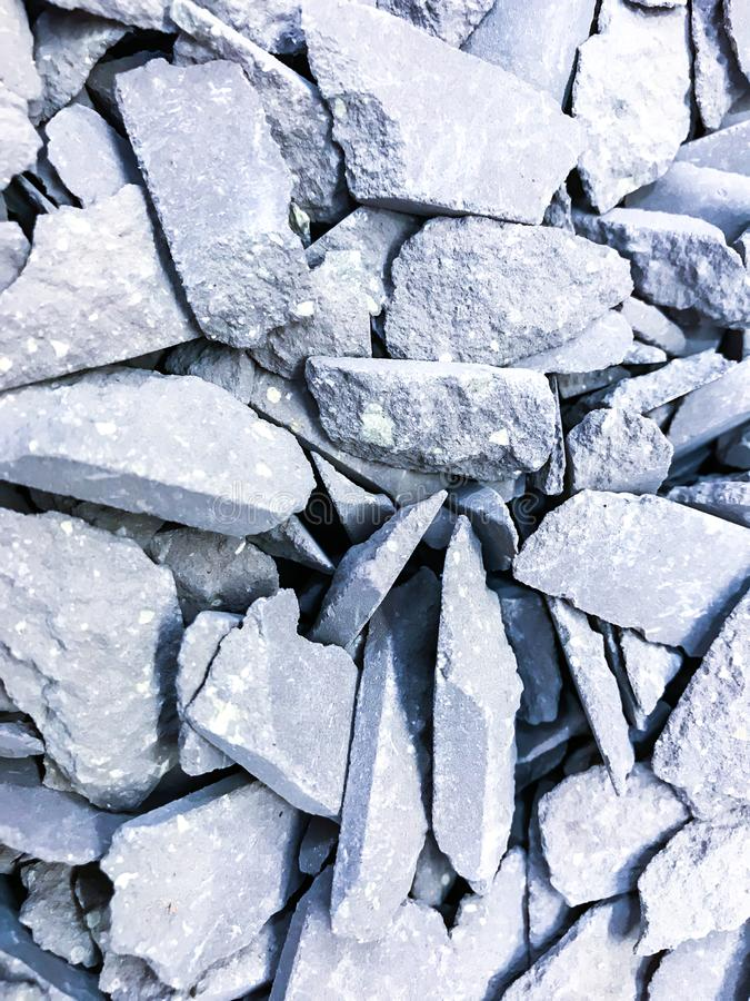 Pieces of decorative crushed stone, pebbles. Studio Photo stock photos