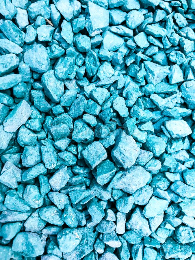 Pieces of decorative crushed stone, pebbles. Studio Photo royalty free stock images