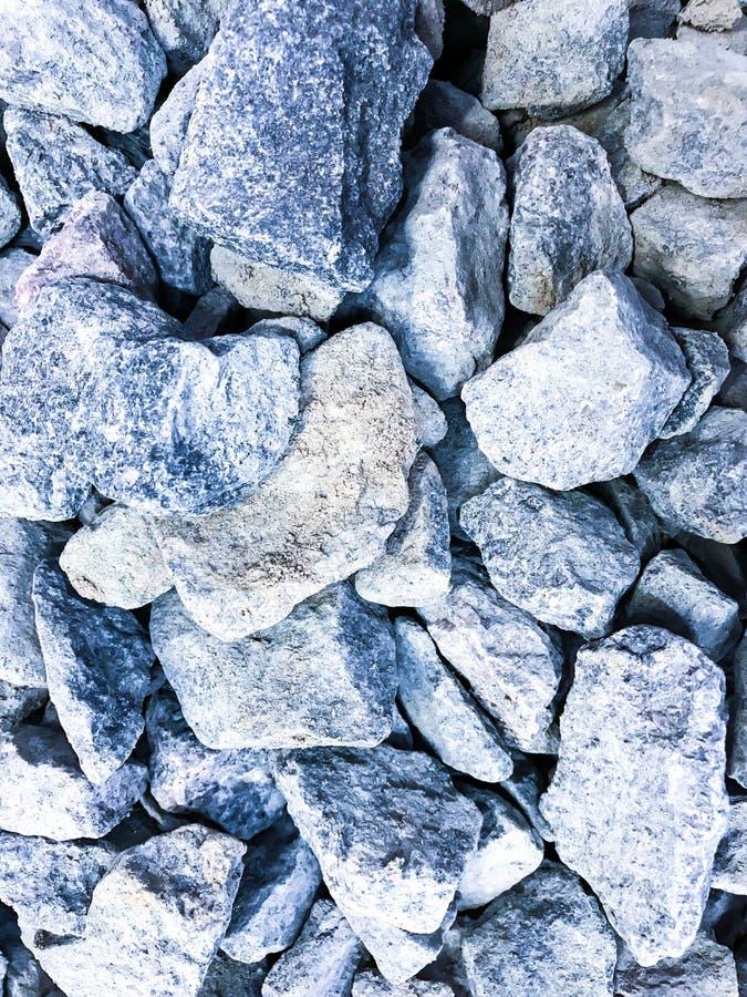 Pieces of decorative crushed stone, pebbles. Studio Photo royalty free stock photo