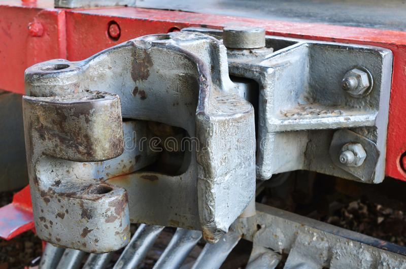 """Pieces detailed about old train on station disabled, steam locomotive as know as """"Maria Fumaça"""" in Brazil stock photos"""
