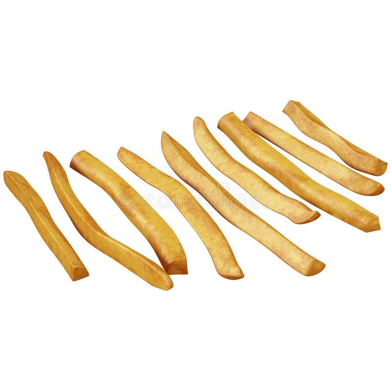 Pieces of french fries royalty free illustration