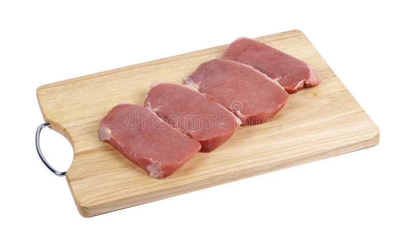 Download Pieces Of Fresh Meat On Cutting Board Stock Photo - Image: 17965564