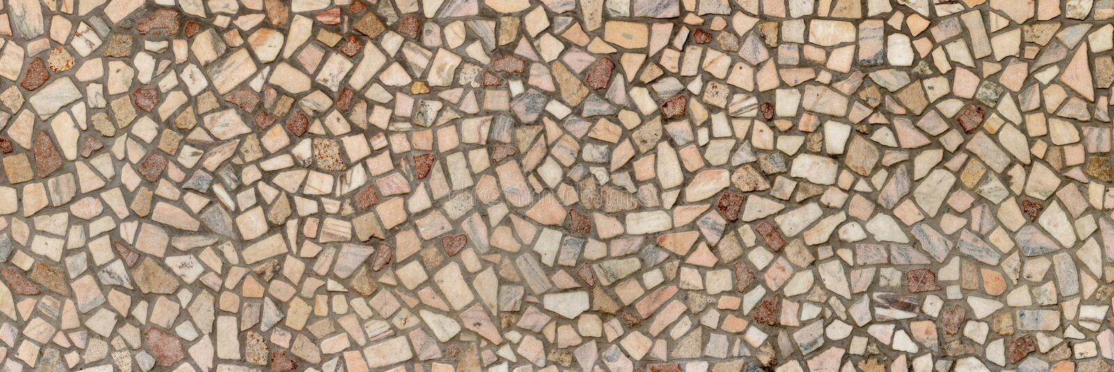 pieces of granite stone in concrete, texture, panorama royalty free stock photo