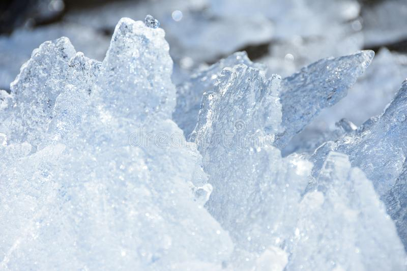 Pieces of ice in the north melt from global warming royalty free stock photo