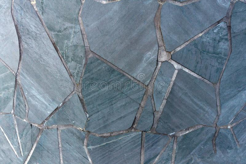 Pieces of marble stone in wall background.  stock photo