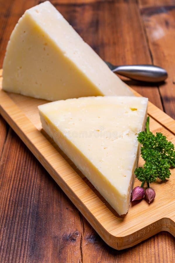 Pieces Of Matured Pecorino Romano Italian Cheese Made From ...