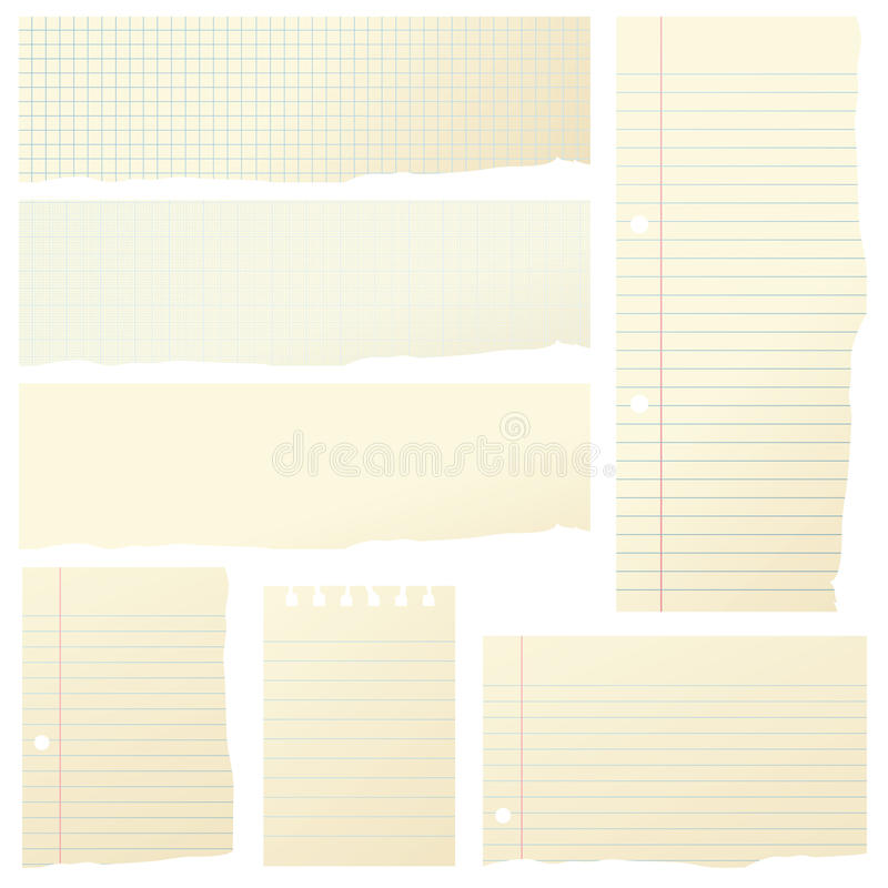 Pieces of Paper stock image