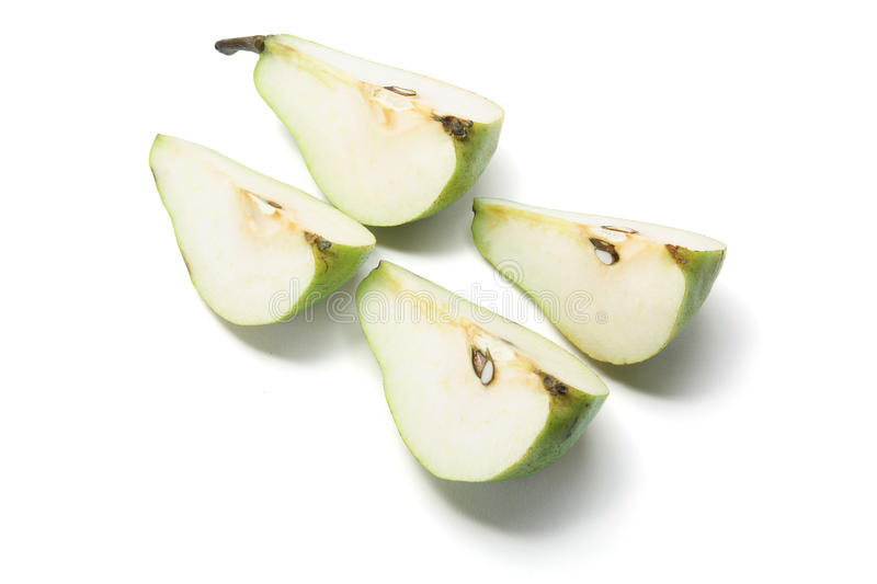 Pieces of Pear royalty free stock photography