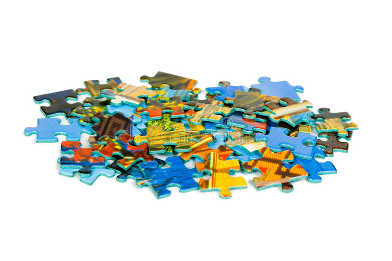 Pieces of puzzle royalty free stock images