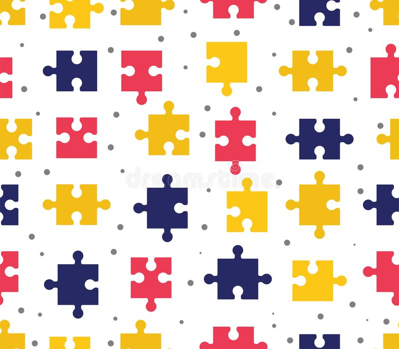 pieces puzzle seamless pattern. Colorful background games. vector illustration