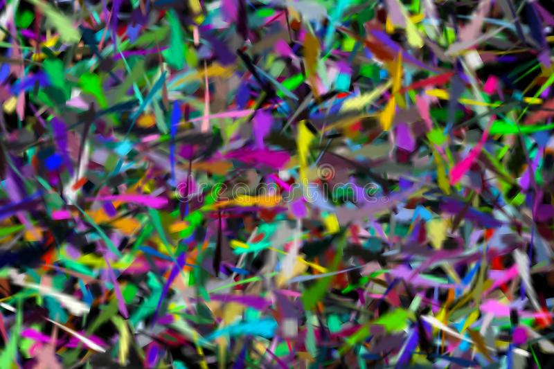 Pieces rainbow abstract of blur colorful light interior and black background royalty free stock photo