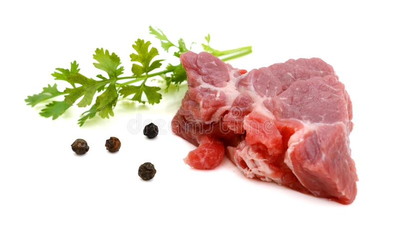 Crude meat. royalty free stock images