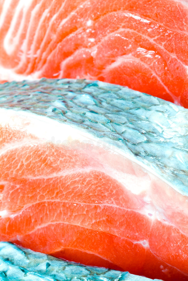 Pieces of a salmon stock photo