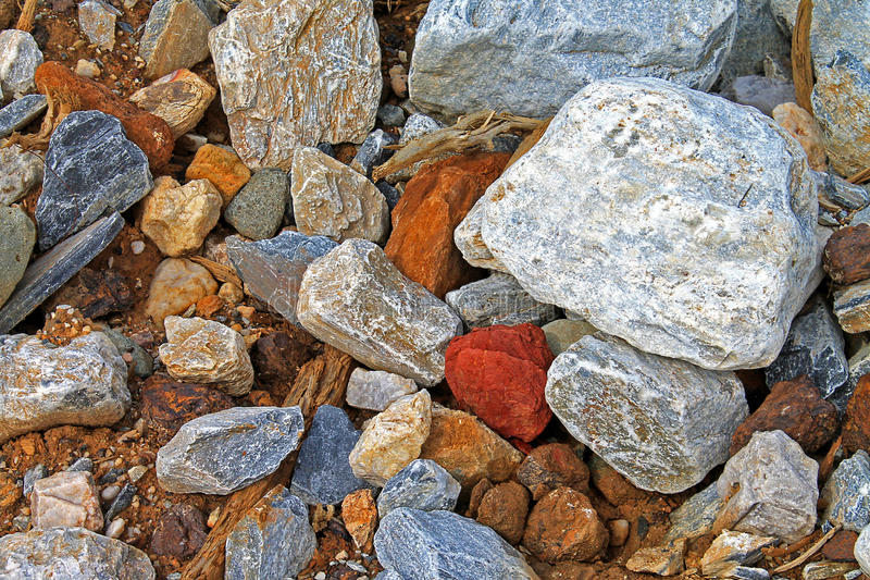 Pieces of Stone Rock Rubble Texture - Stock Image. Pieces of Stone Rock Rubble Texture stock photography