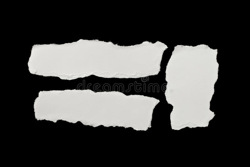 Pieces of torn white paper royalty free stock photo