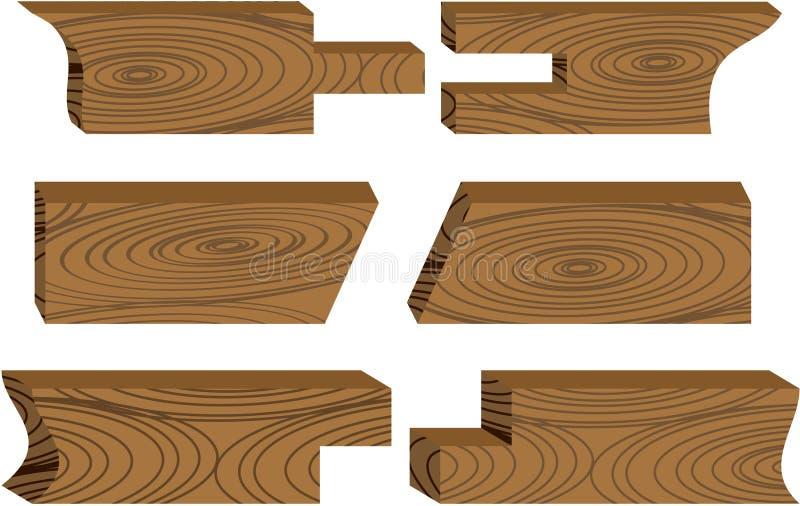 pieces trä stock illustrationer