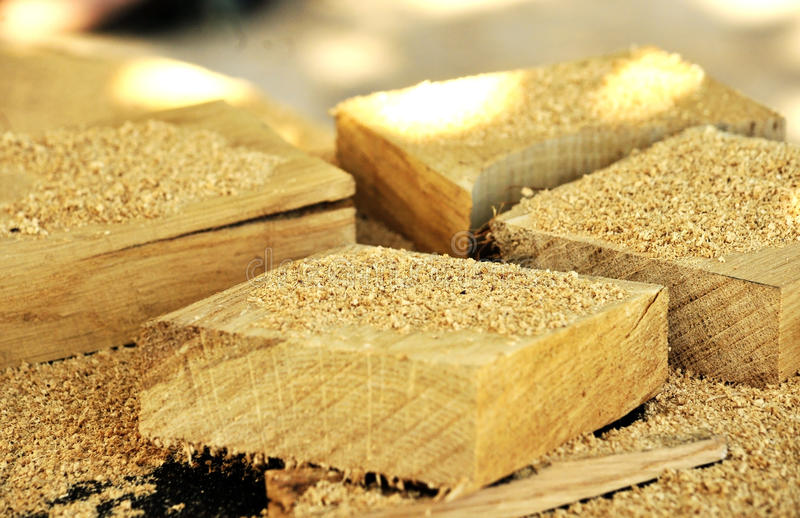Pieces of wood 2 royalty free stock photos