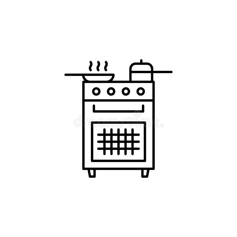 piecowa kontur ikona Element styl życia ilustracji ikona Premii ilo?ci graficzny projekt Znaki i symbol inkasowa ikona dla ilustracja wektor