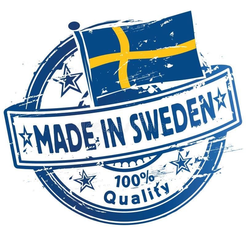 Pieczątka robić w Szwecja ilustracji