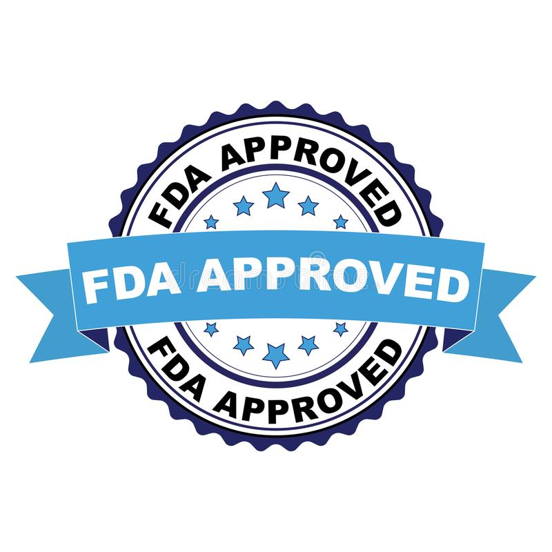 Pieczątka z FDA Zatwierdzał pojęcie ilustracja wektor
