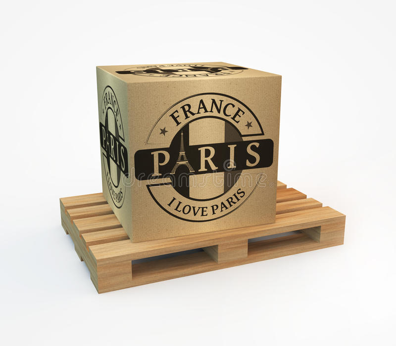 Pieczątka z Paris ilustracji