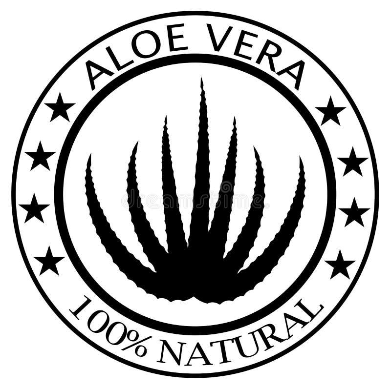 Pieczątka z teksta 100% aloesem Vera ilustracji