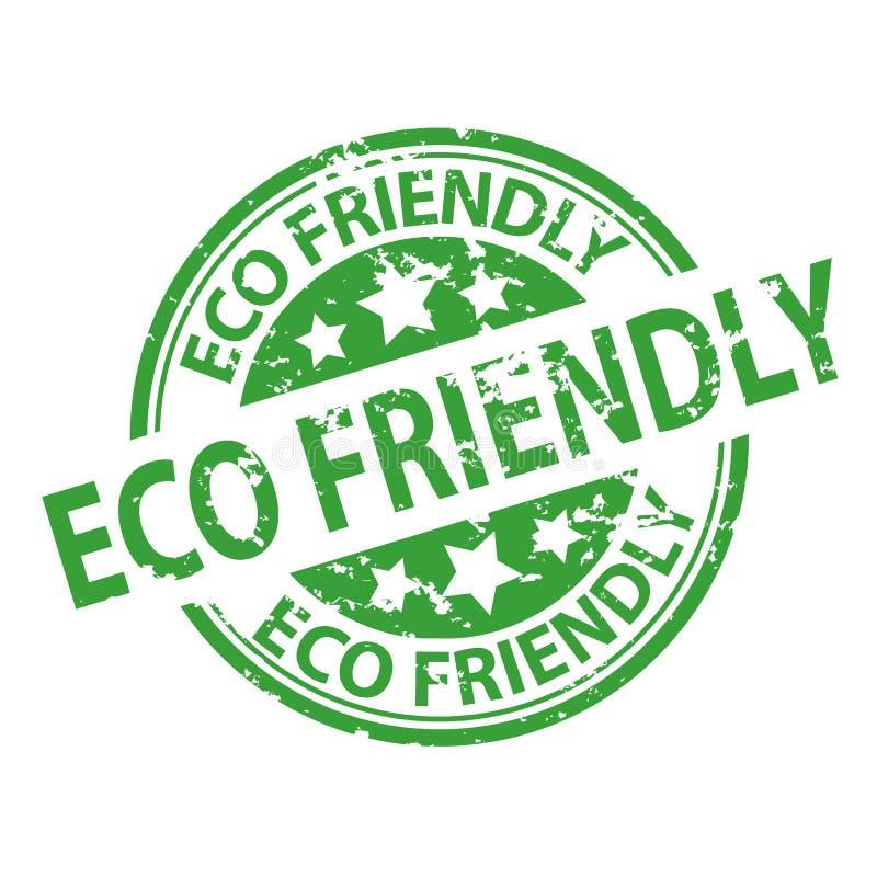 Pieczątki foka - Eco Życzliwy ilustracja wektor