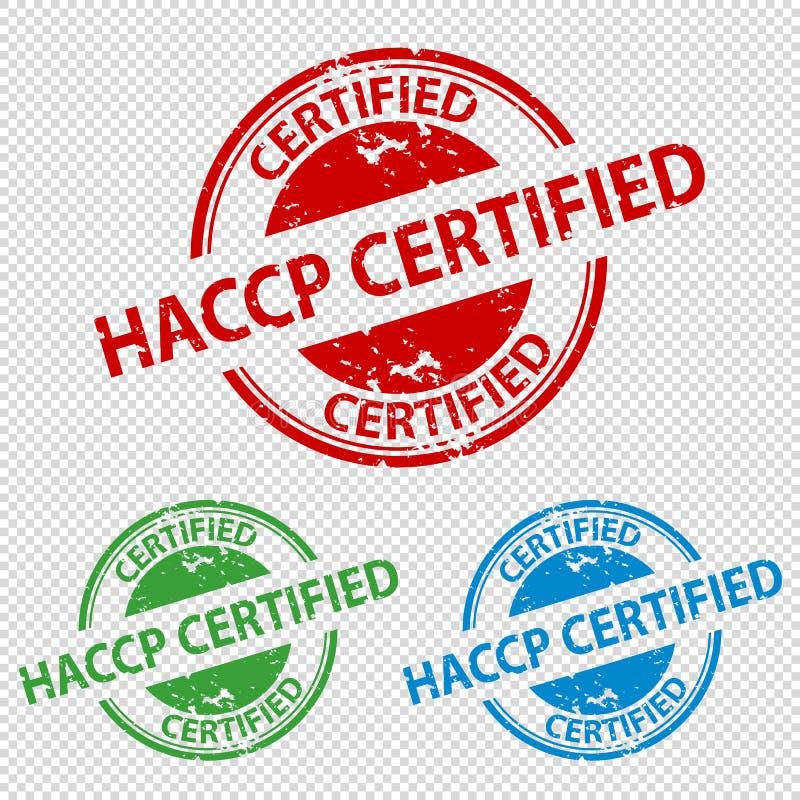 Pieczątki foka HACCP Poświadczająca Odizolowywający Na Przejrzystym tle - Wektorowa ilustracja - ilustracji