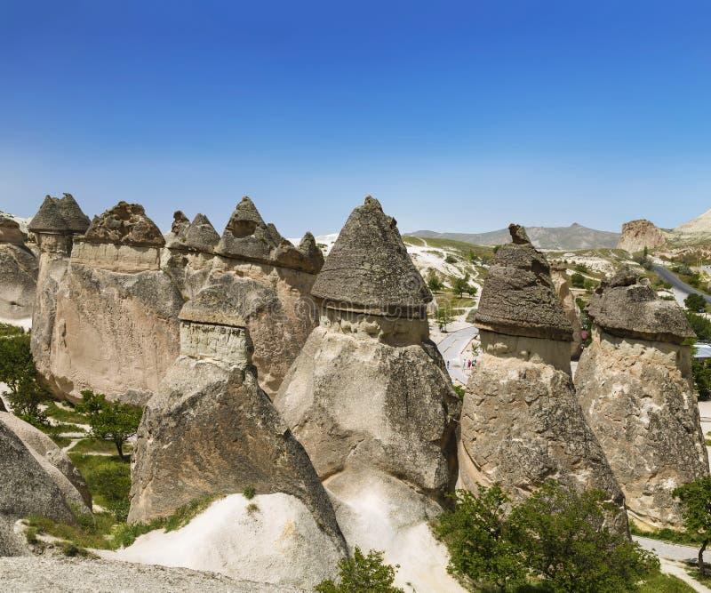 Pieczarkowa dolina w Cappadocia goreme park narodowy obraz royalty free