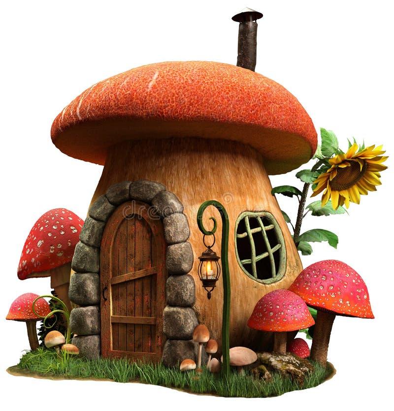 Pieczarkowa domu 3D ilustracja ilustracja wektor