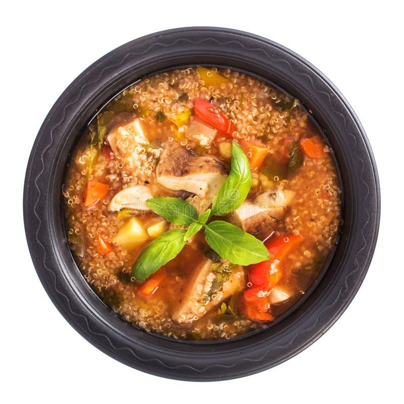 Pieczarkowa quinoa polewka zdjęcie royalty free