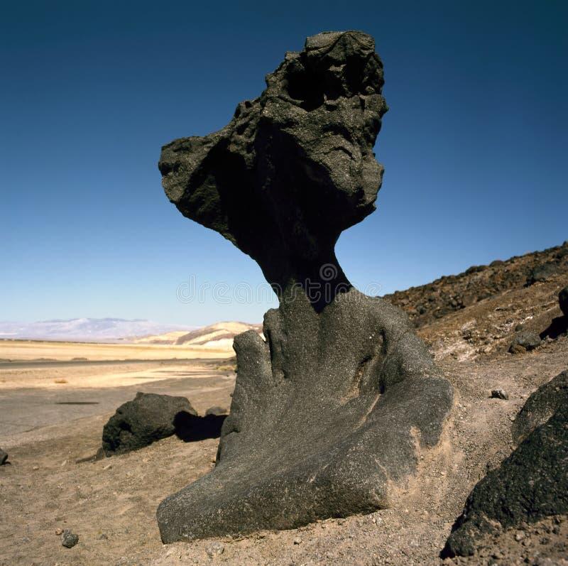 Pieczarkowa skała, Śmiertelna dolina, Kalifornia fotografia stock