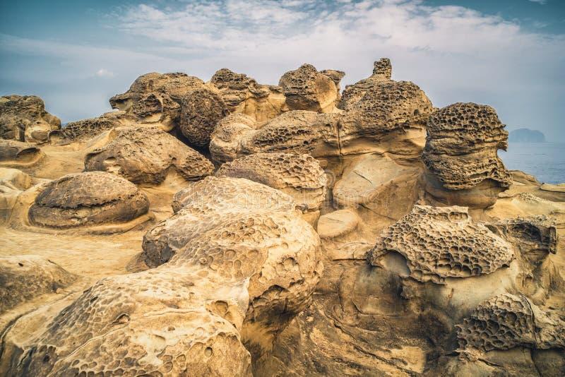Pieczarkowa skała w Shenao Ruifang okręg, Nowy Taipei, Tajwan fotografia royalty free