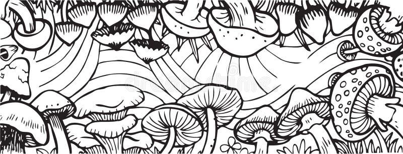 Pieczarkowego Ogrodowego tematu kolorystyki Dorosła Książkowa ilustracja ilustracja wektor