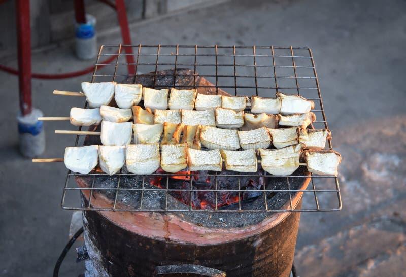 Pieczarkowy bambus prymki grill obrazy royalty free