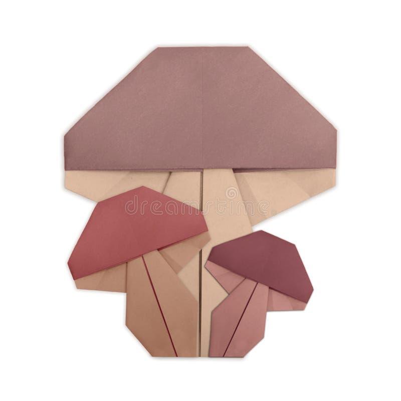 Pieczarkowy grupowy origami odizolowywający obraz royalty free