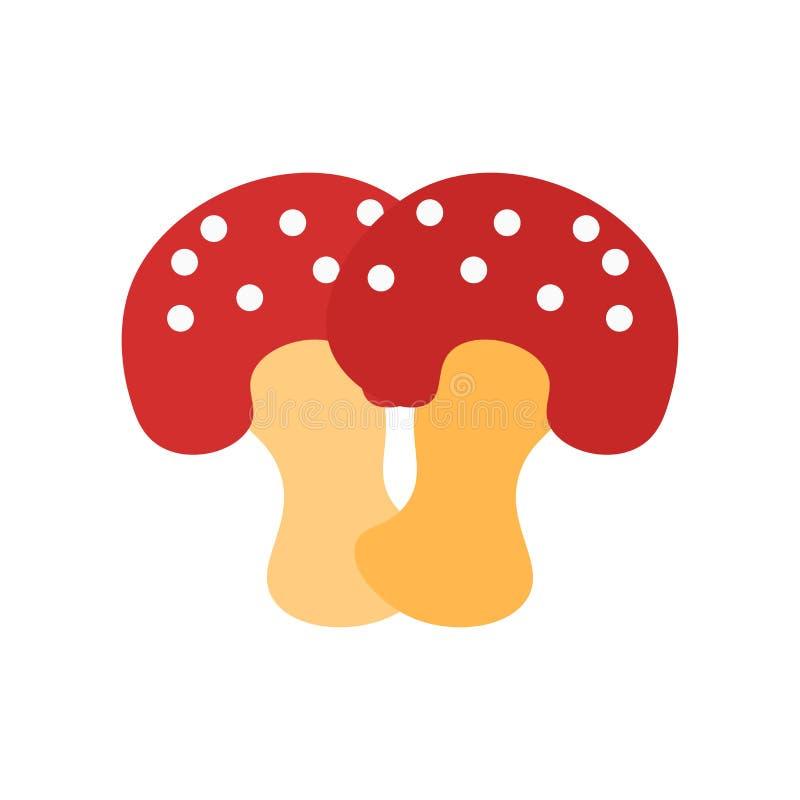 Pieczarkowy ikona wektoru znak i symbol odizolowywający na białym tle, Pieczarkowy logo pojęcie ilustracji