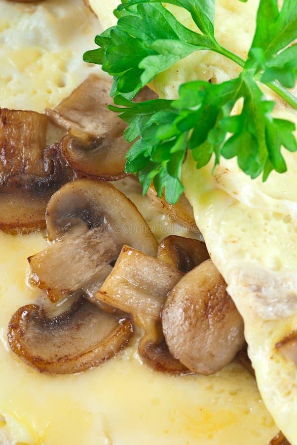 pieczarkowy omlet zdjęcie royalty free