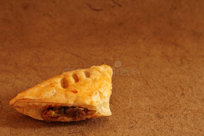 Pieczarkowy ptysiowego ciasta jarski jedzenie dla śniadania obraz royalty free
