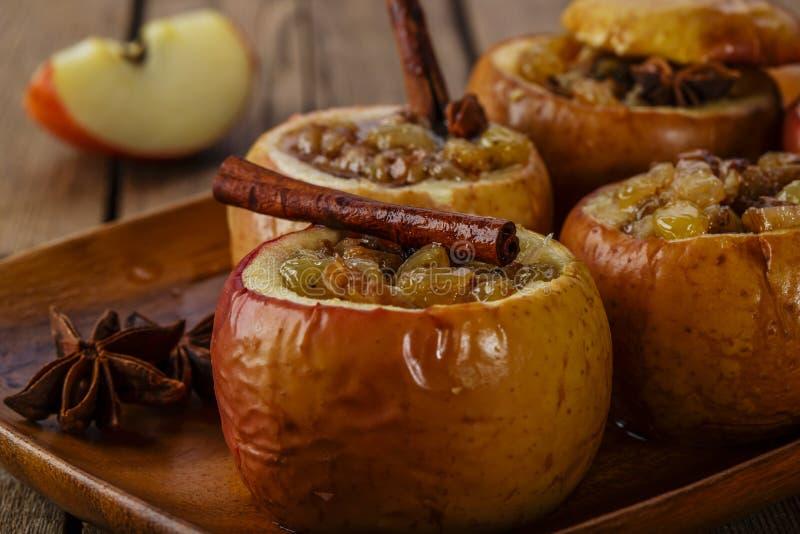 pieczone jabłko, obraz royalty free