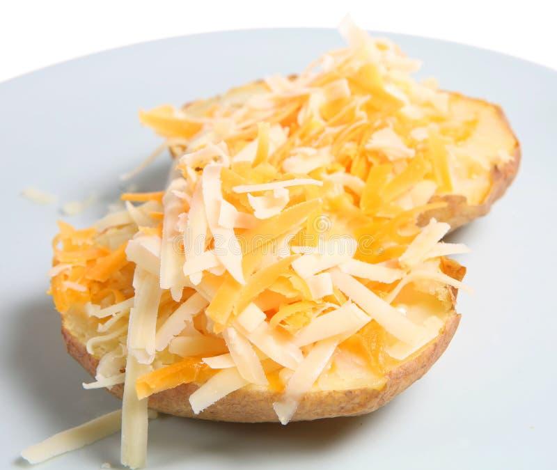 pieczone ziemniaki z serem obraz stock