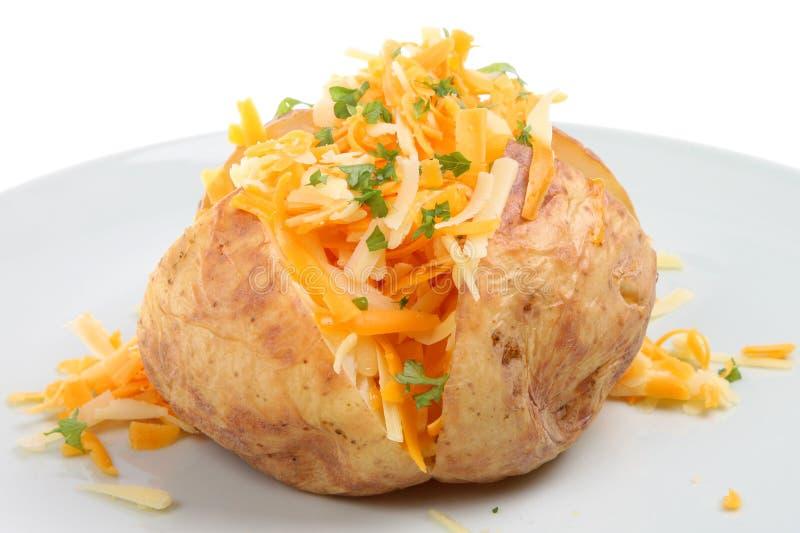 pieczone ziemniaki z serem fotografia royalty free