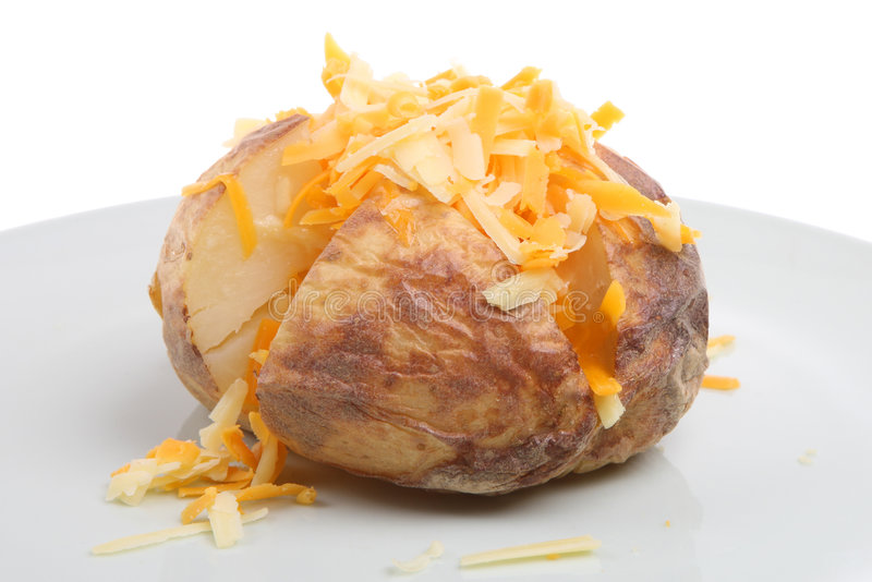 pieczone ziemniaki z serem zdjęcia royalty free