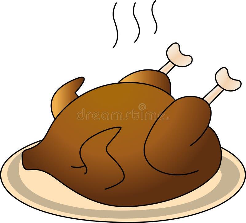 pieczonego kurczaka royalty ilustracja